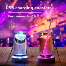 Светодиодный светильник/KTV/Товары для дома база гравитационная индукция USB зарядка флэш подставки круглые люминесцентные подставки