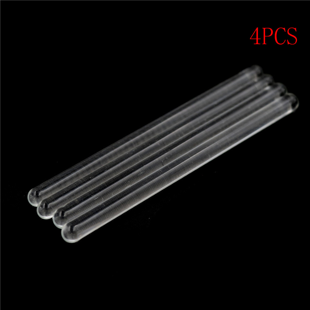 4pcs Glass Stirring Rod For Lab Use Stiring Stirrer Laboratory Transparent School Glass Buret Mixer 6*100mm Wholesale