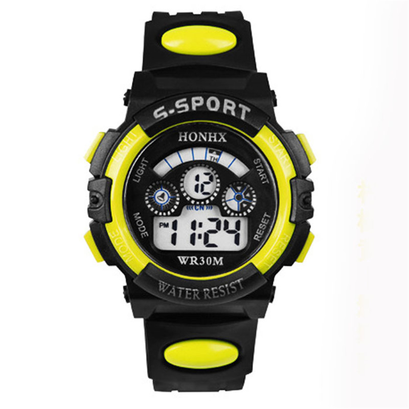 Electronic Wristwatch Stop Watch Outdoor Multifunction Waterproof Clock Military Kids Sport Watch Digital Watch For Boys Girls