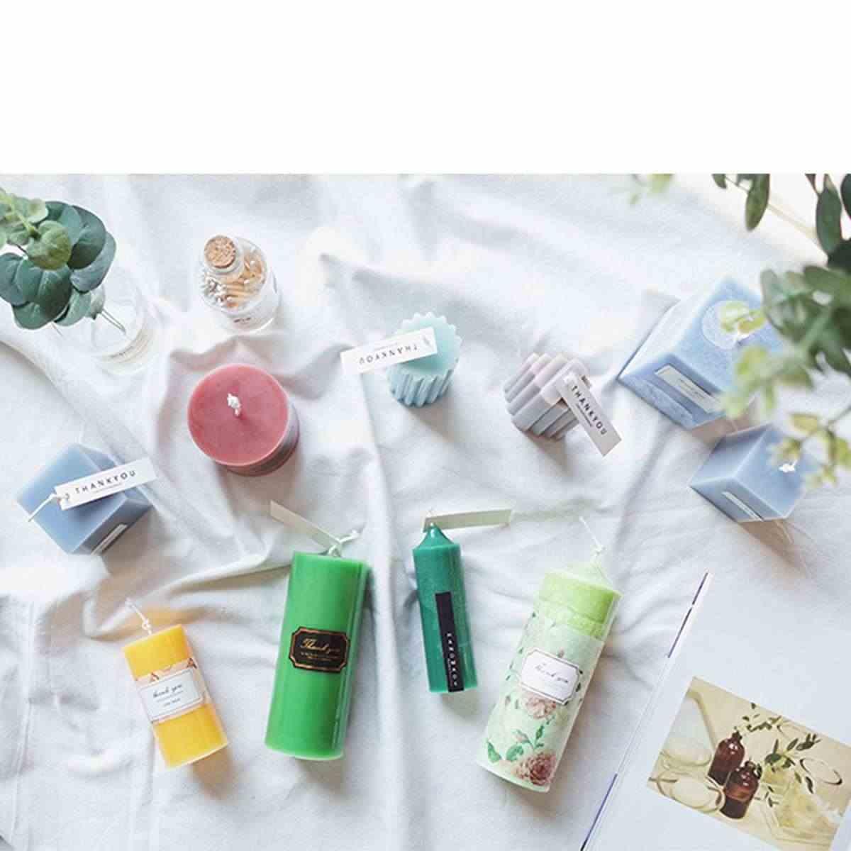 נר עובש DIY אקריליק גבס טיח מלאכות עובש כיכר סבון נר שרף בעבודת יד תוצרת בית סבון עובש חימר מלאכת כלים מתנה
