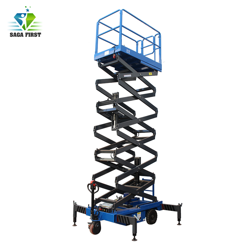 Manual Driving 12m Lifting Height Electric Scissor Lift Table, Scissor Lift