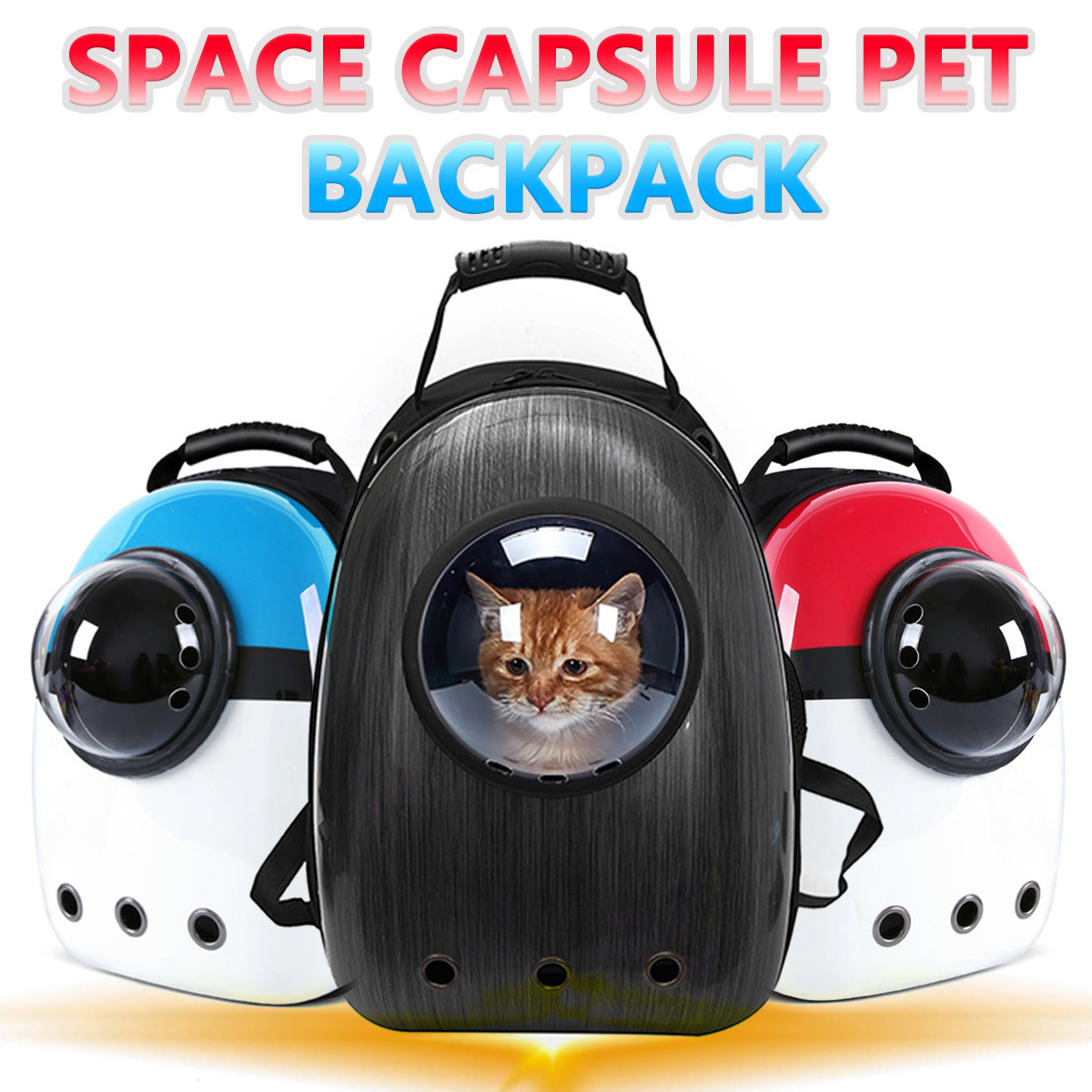 Pet Dog Cat backpack Travel cat carrier Double Shoulder Bag Space Capsule Cat Backpack for Bag Small Pet Handbag Cat carrying