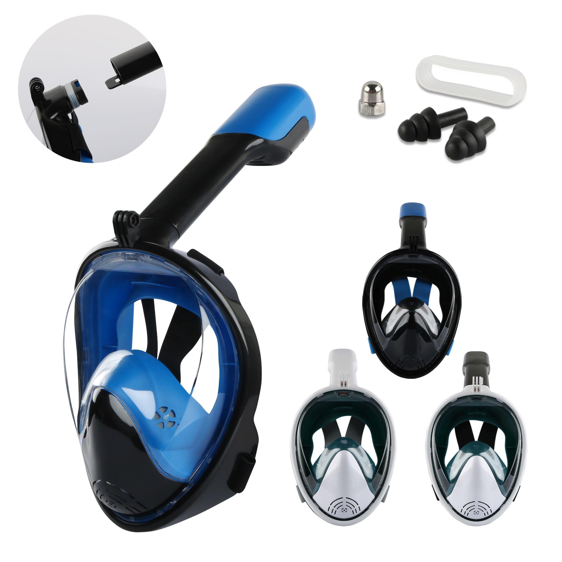 2019 New Underwater Diving Mask Scuba Mask Anti Fog Full Face Snorkeling Mask Adult Kids Swimming Snorkel Diving Equipment