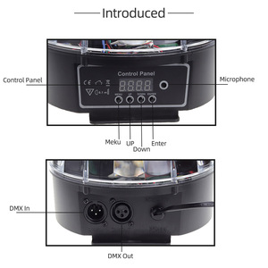 Image 3 - 9 色マジックボール効果光ledステージパーティーランプdmx 512 コントローラーdjパー光音声起動ステージライトリュミエールレーザー