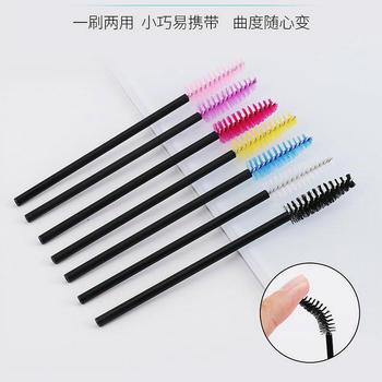 20pcs  Random Colors Disposable Eyelash Brush Color Spiral Roll Beauty Makeup Cosmetics Comb