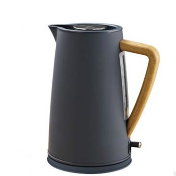 1800W Stainless Steel Electric Kettle with Wooden Plastic Handle 1.7L #304 Food Grade SS Heating Water in 5 Minutes