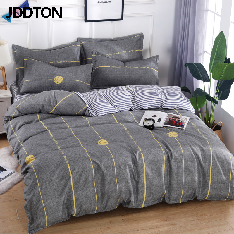 JDDTON Classic 2019 New Double Sided Bed Linings Simple Lovely Bedding Set Quilt Cover Pillowcase Cover Bed Sheet 4 Size BE032