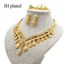 Комплект ювелирных изделий jhplaged в Дубае золотого цвета свадебный