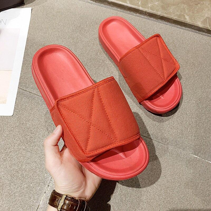 Summer Slides Women Slippers Thick Bottom Lightweight Beach Slides Flip Flops Eva Slide Sandals Women Men Couple Student Shoes