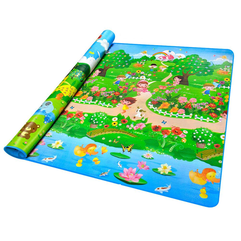 2 X 1.8 Meter Baby Crawling Play Mat Climb Pad Double-Side And Happy Farm Baby Toys Playmat Kids Carpet Baby Game