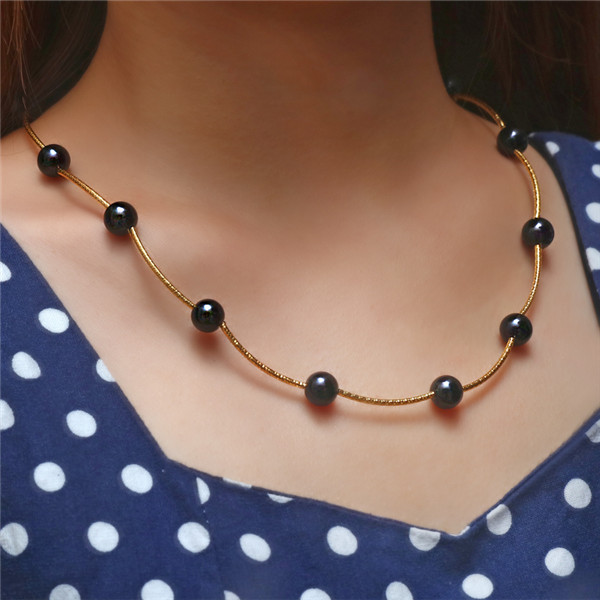 Ожерелье из искусственного жемчуга, высокое качество, не вызывает аллергии, опт, золотой цвет, массивное ожерелье, цепочка,, жемчужные украшения - Окраска металла: Nekclace 1527