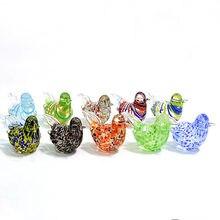 Новые мини стеклянные фигурки птиц ручной работы художественные