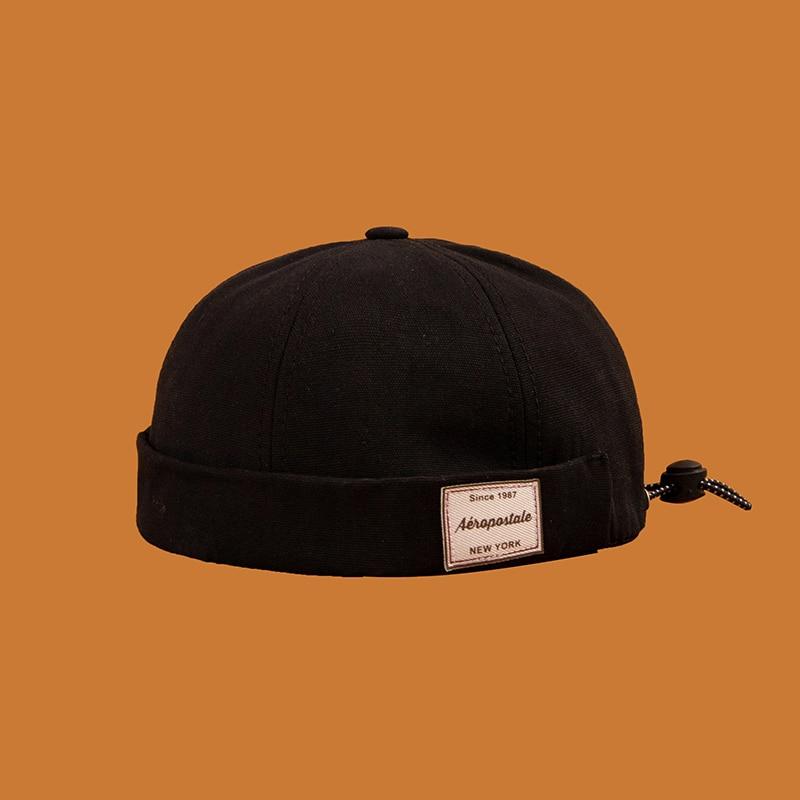 Vintage Docker Cap Brimless Hat Breathable Beanie Hats Cotton Retro Adjustable Literary Landlord Sailor Cap Women Hip Hop Hat
