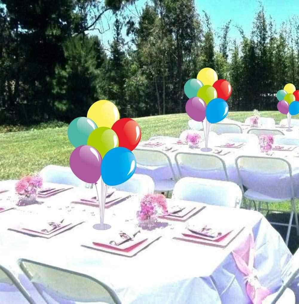 3 セットバルーンスタンドホルダーキットと 7 は 7 カップと 1 ベーステーブルデスクトップセンターピースの装飾結婚式のための誕生日