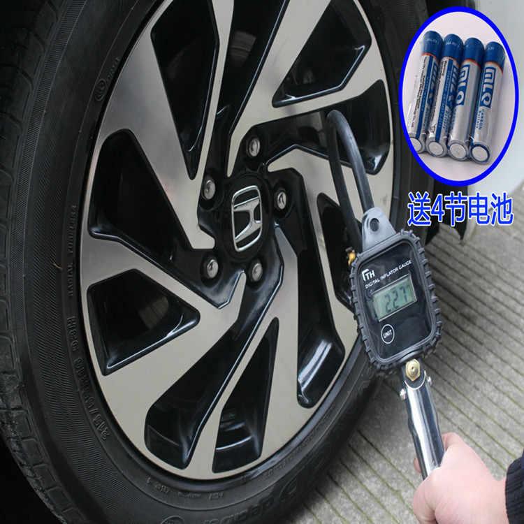 Çok fonksiyonlu dijital lastik göstergesi yüksek hassasiyetli lastik Nozzele araba lastik basınç tabancası masa numaraları ile algılama izleme