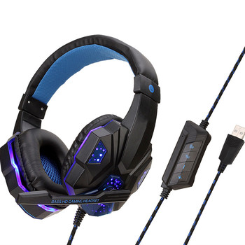 Professional Led Light Gaming Headphones for Computer PS4 Adjustable Bass Stereo PC Gamer Over Ear Wired Headset With Mic g3