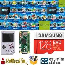 128 GB Retropie emülasyon istasyonu SD kart için GPi kılıf ahududu Pi sıfır 14000 + oyunları FC NES SNES GBA PS NEOGEO ATARI LYNX