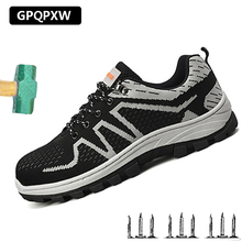Non-slip Wear-resistant Labor Insurance Shoes Summer Breathable Steel Head Safety Shoes Male Anti-smashing Puncture Work Boots