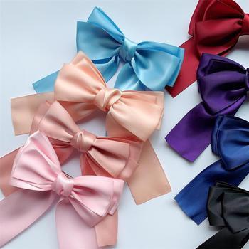 Korean Fashion Big Large Satin Women Girls Hair Band Trendy Hairpin Casual Clip Cute Ribbon Bow Ladies streamer bow Hot