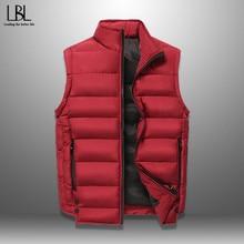 Vest Men Sleeveless Jacket Coat Warm Thick Male Outdoor Plus-Size Winter Men's Casual