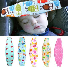 Kids Baby Head Support Holder Sleep Belt Adjustable Safety Cars Seat Nap Aid Band Print Car Seats Accessories Head Body Supports