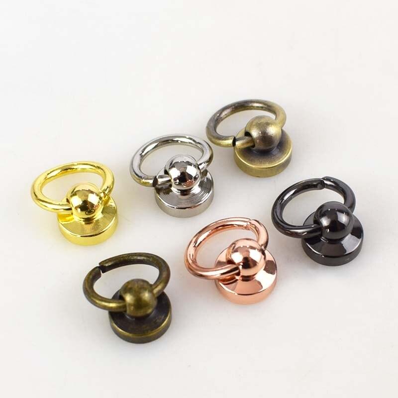 Bronce 20 unids cuero artesan/ía remache de metal tornillos diy accesorios bolsa con hebilla de anillo de tir/ón para monedero//tel/éfono decoraci/ón de la caja