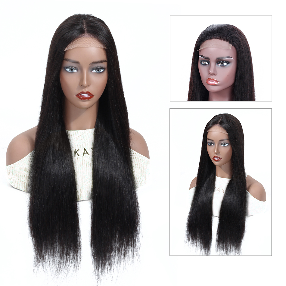 Aliabc Brazilian 4*4 Lace Closure Wigs 100% Human Hair Wigs For Women Remy Hair Straight Lace Wigs 150 Density Middle Ratio