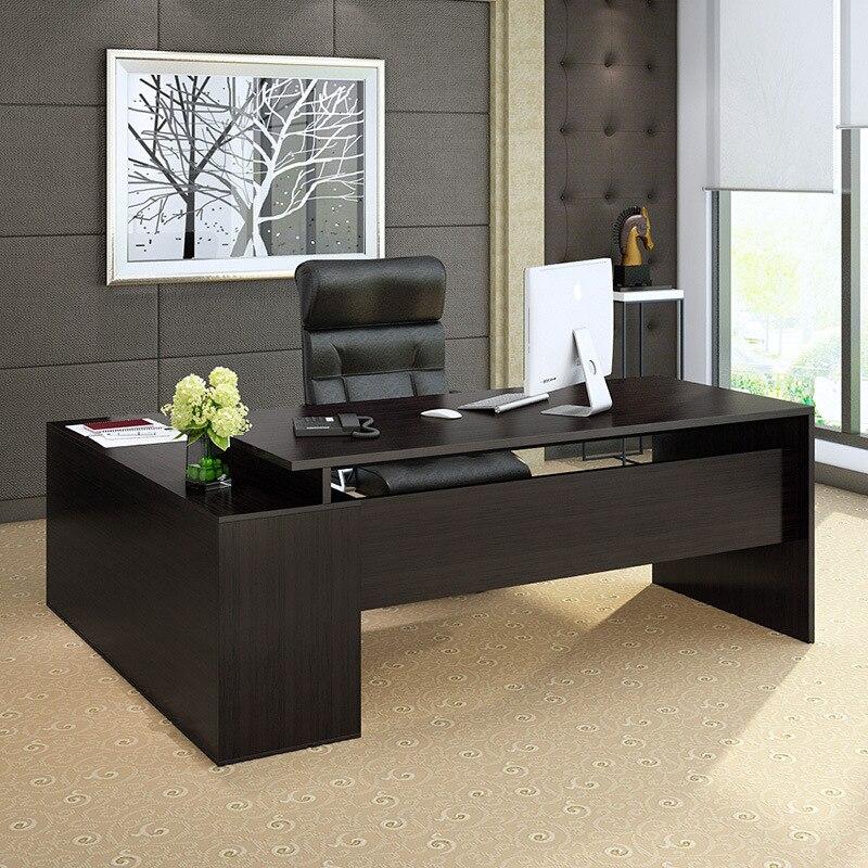 Simple Boss Desk Office Desk Customizable Top Grade Executive Desk MANAGER'S Office Desk-Style Office Furniture Office Desk Chai