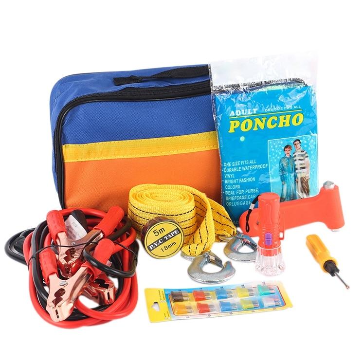 Car Emergency Kit Car Roadside Emergency Tool Supplies Car Rescue Package Car Fault Equipment Survival Equipment 9 Sets