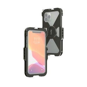Image 4 - SmallRig Pro נייד כלוב עבור iPhone 11 פרו Vlogging אבזר טלפון נייד כלוב עם קר נעל הר Vlog ערכת ירי 2471