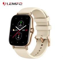 LEMFO-reloj inteligente GTS 2 VS P8 para hombre y mujer, dispositivo completamente táctil con Bluetooth, llamadas, control de la presión sanguínea y pantalla de 1,72 pulgadas