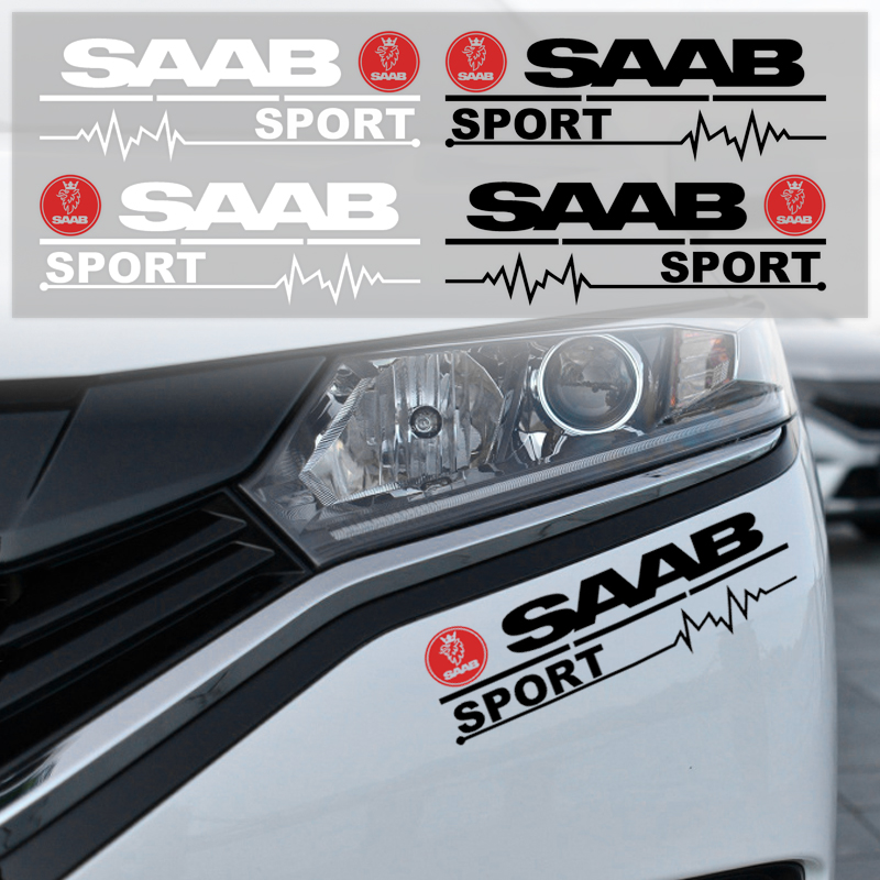 2pc Car Styling Rearview Mirror Front Bumper Sticker Decal For Saab 93 95 Saab 9-3 9-5 900 9000 Car Accessories