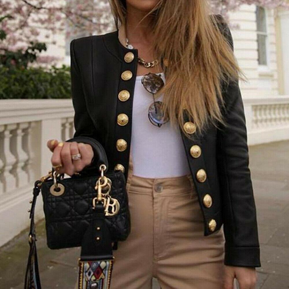 Vintage Autumn Winter Women Coat Women Casual Tops Shirt Ladies Buttons Jackets Coats Women Warm Coats Fashion Streetwear Hot