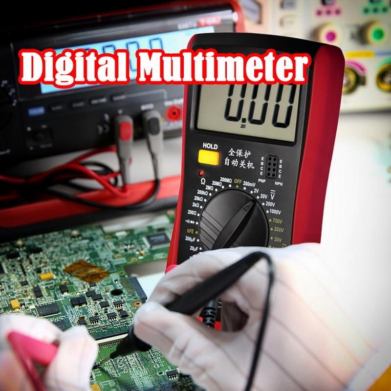Junejour LCD Digital Multimeter Voltmeter Ammeter Ohmmeter DC10V~1000V 10A AC 750V  Current Tester Test   LCD Display A9205B