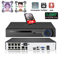 HD CCTV 8CH 5MP surveillance DVR POE NVR 8 channel Face&Motion Detection HDMI Standalone security 4G WIFI NVR video recorder