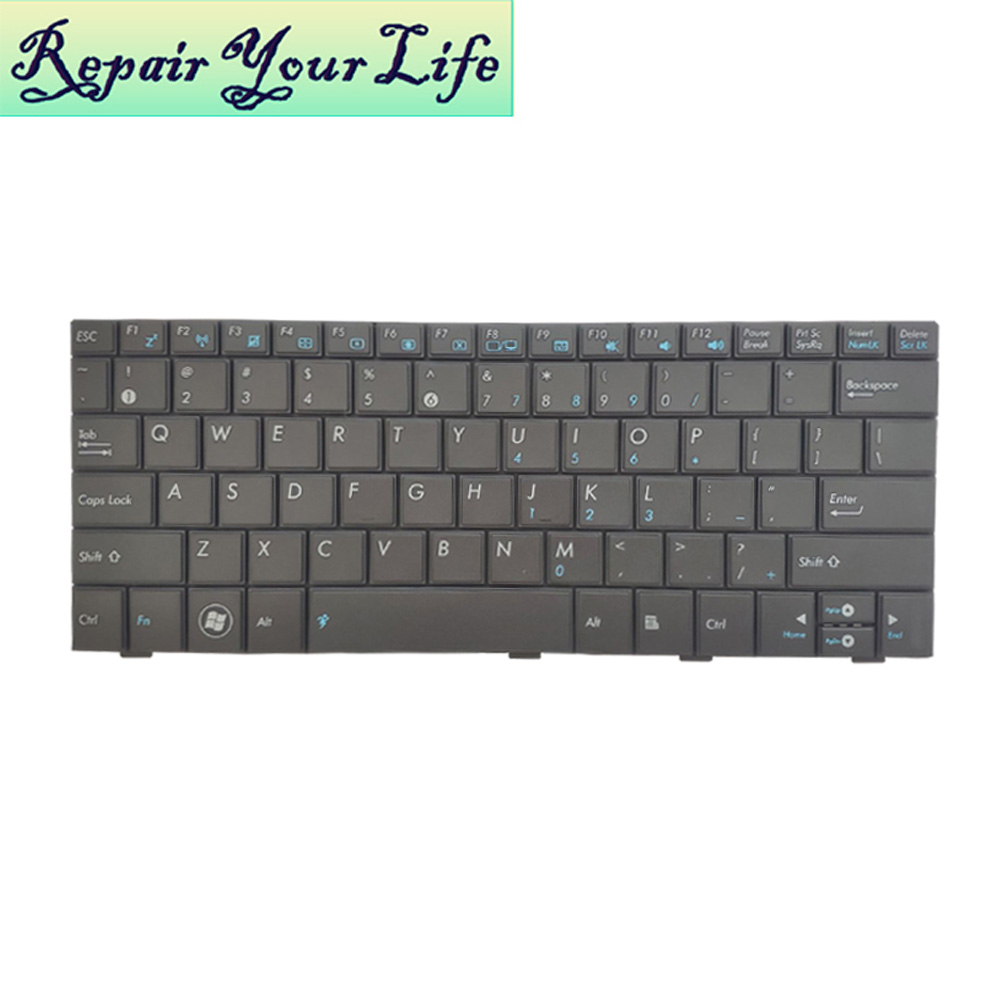 Laptop Keyboard For ASUS 1008 1005HA 1008HA 1005 1005HD 1001 1001HA US English MP-09A33US 5282 04GOA192KUS10 Black KB Replacemen
