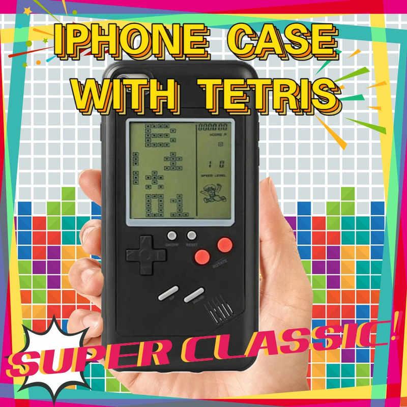 Tetris GameBoy Cassa Del Telefono per il iPhone 11 10 Pro XS Max 6 6s 7 8 Più di X XR SE 2020 2 caso Retro Game Boy Coperchio di Protezione Regalo Freddo