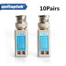 10Pairs Twisted BNC CCTV Video Balun Passive Transceiver Cat5 CCTV UTP 200M Range For HD 720P HDCVI/AHD/HDTVI Camera