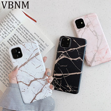For iPhone 11 Case Gold Strip Marble Phone Cover for iPhone 11 Pro Max XR XS Max X 6 6S 7 8 Plus Soft Silicone Cases Coque Funda laser marble finger ring holder phone cases for iphone 11 pro max case cover funda for iphone 7 8 6 6s plus xs max xr case coque