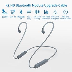 Image 3 - سماعات أذن KZ مزودة بتقنية البلوتوث 5.0 Aptx HD QCC3034 سماعات أذن لاسلكية محدثة كابل مناسب لسماعات الرأس KZ ZAX ZSX ZS10 PRO AS10 ZSTx EDX