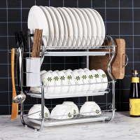 1/2/3 layers Bowl rack drying dishes metal holder stand household dishes drainer kitchen racks kitchen shelves organizer