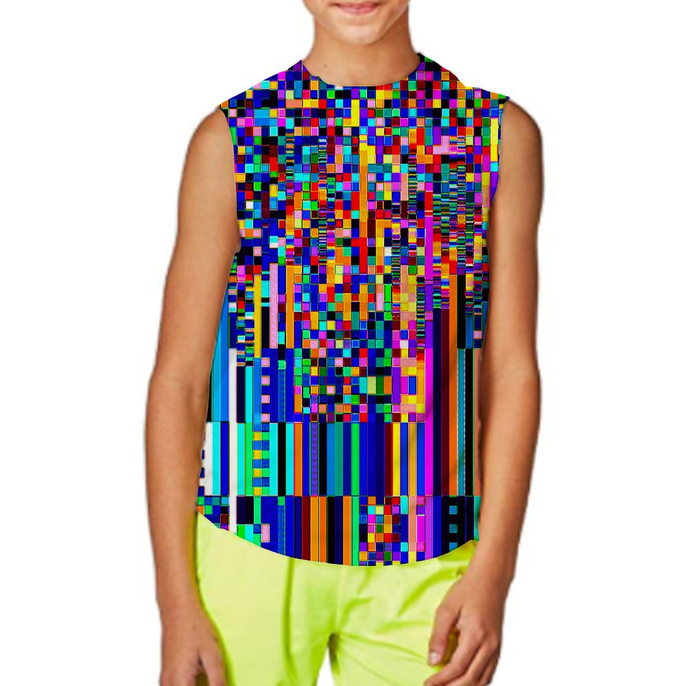 Kid's Graphic Tank Top Boy And Girl 3D Print Sleeveless Pattern Top Abstract Tees