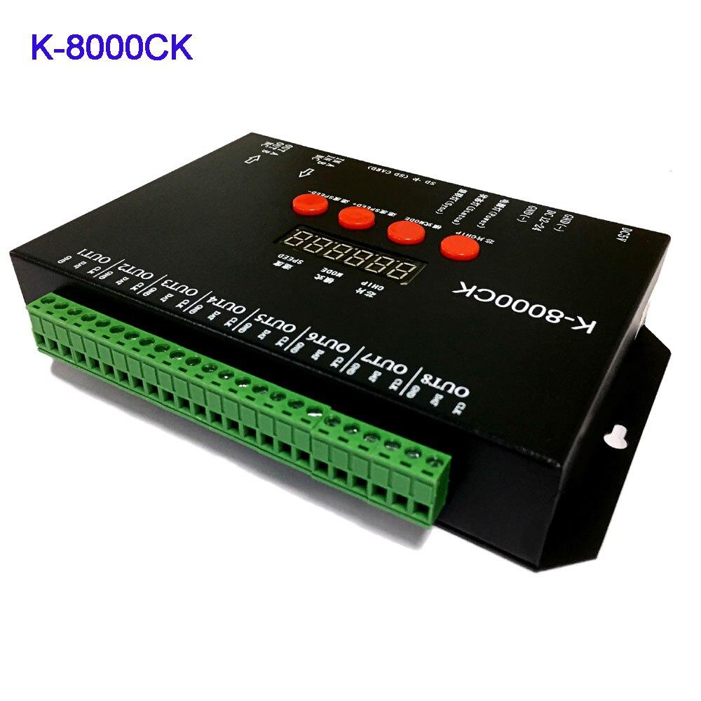 K 8000CK (обновленная версия T 8000), светодиодный контроллер sd карты pixel; off line; Светодиодный контроллер 8192 пикселей; выход сигнала SPI;