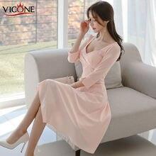 Женское элегантное платье vicone повседневное модельное офисное