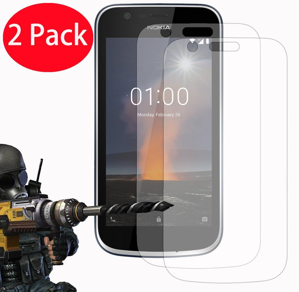 2pcs Screen Protector For Nokia 1 2018 TA-1066 TA-1047 Tempered Glass Protective Glass For Nokia 1 Plus TA-1111 TA-1123 TA-1127