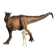 Rode Kleur 1:35 Nanmu Studio Ranger Carnotaurus Dinosaurus Animal Figuur Met Menselijk Klassieke Speelgoed Voor Boy Collection Beweegbare Kaak