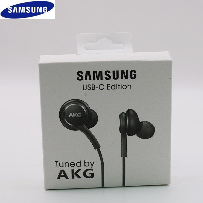 Оригинал, Samsung Galaxy Note 10 + Type-C наушники-вкладыши проводной микрофон Регулятор громкости USB-C гарнитура для A90 A80 A60 A8S Huawei P30