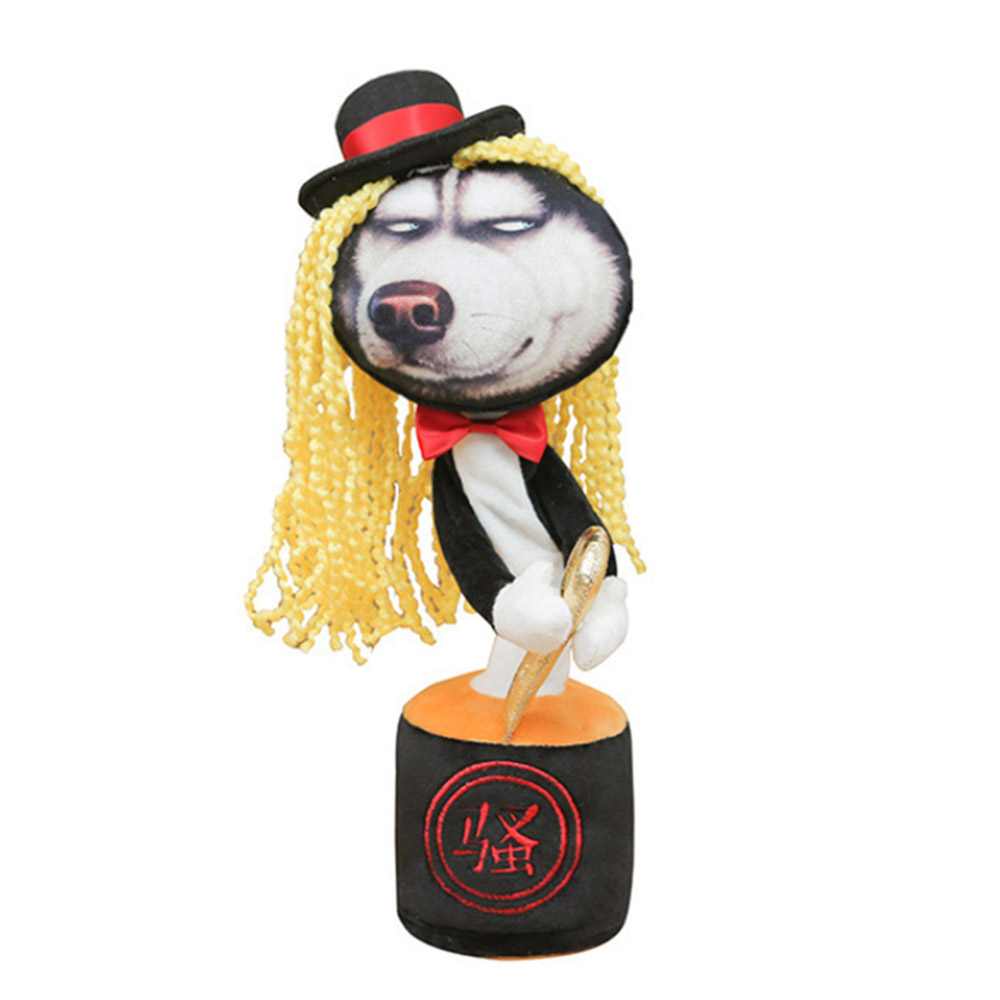 Magic Electric Walking Husky Dog Plush Toy Stuffed Animal Toy Electronic Music Husky Dog  Singing Dancing J71 Toys For Children