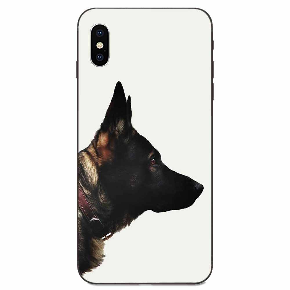 Black Shepherd German Dog Puppy For Xiaomi Mi Mix Max Note 2 2S 3 5X 6 6X 8 9 9T SE A1 A2 A3 CC9e Lite Play Pro F1