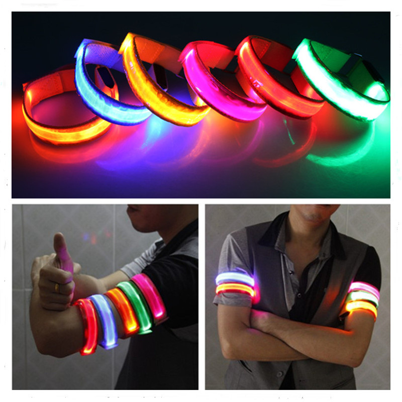 Outdoor Sports Night Running Armband Led Light Safety Belt Arm Leg Warning Wristband Cycling Bike Bicycle Party Accessories